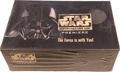 Premiere Booster Box - Original Decipher Star Wars Customizable Card Game Premiere Edition Booster Display Box (36 Packs with 15 Cards Per Pack)