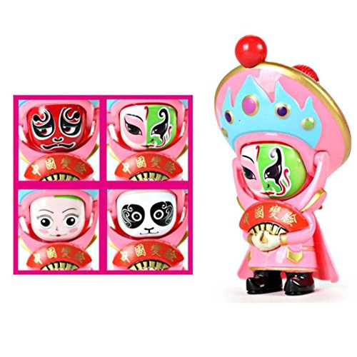 Boyiya Toys, Traditional Creative Chinese Opera Face Changing Doll Sichuan Opera Figure Toy (Pink) - Fly Guy Character Costume