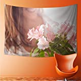L-QN Tapestry Wall Tapestry Female sex Wall Hanging Yoga/Picnic/Camping Mat 60W x 40L Inch