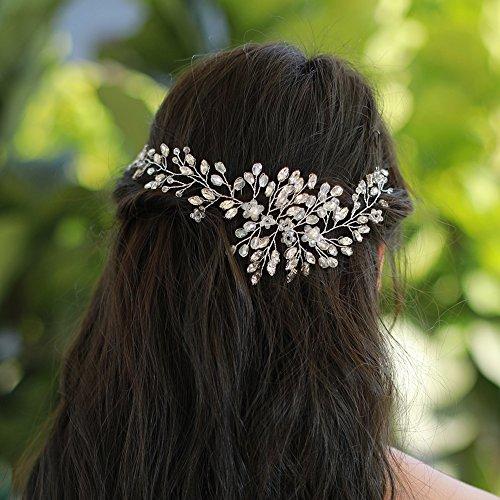 Missgrace Bridal Crystal Hair Vine Wedding Vintage Headband