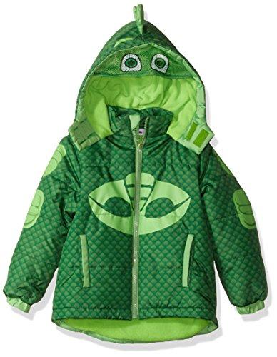 PJ Masks Boys' Toddler Gekko Puffer Coat, Green 3T ()