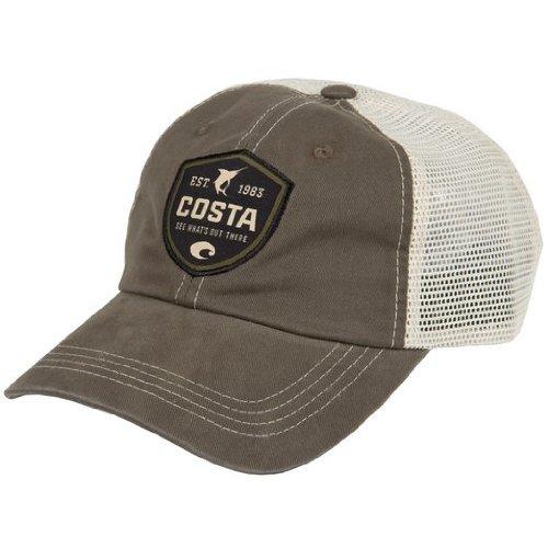 Costa Del Mar HA25m Shield Trucker Hat with Snap Closure, - Costa For Hats Men