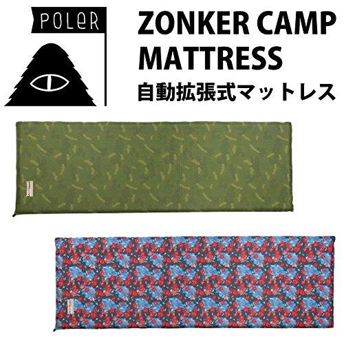 POLER ポーラー 自動拡張式エアーマットレス ZONKER CAMP MATTRESS B01GE4UH1M  1.FURRY-CAMO(GRN.CM) ZONKER