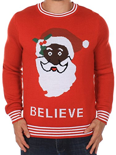 Black Santa Sweater by Tipsy Elves