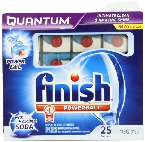 Finish Quantum Dishwasher Detergent with Baking Soda, 25 Count by - Soda Dishwasher Baking