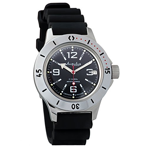 Dive Case Watch Resin (Vostok Amphibian Automatic Mens Wristwatch Self-Winding Military Diver Amphibia Case Wrist Watch #120315 (Resin))