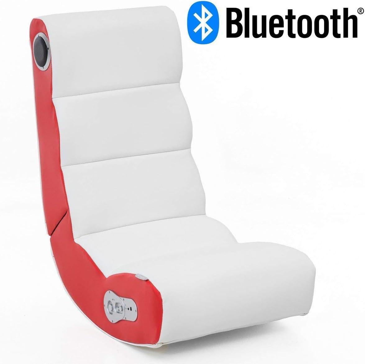24Designs Soundchair Soundz Pro en Blanc Rouge avec