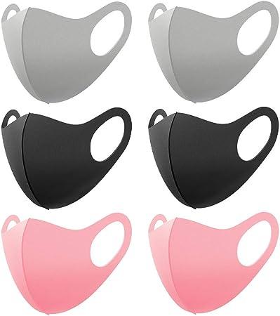 Image ofLazzgirl para Deportes al Aire Libre Reutilizable y Lavable Antipolvo con Elástico para Los Oídos, Pack 6 unidades