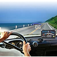 VGEBY Universal HUD GPS Head Up Display For Auto With OBD II Port EUOBD Plug And Play Multi-Color Controller Screen