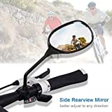 Oalas Black Retro Style Side Rearview Mirror w/ 7/8' Handlebar Mount 8mm Adaptor For Mountain Bike BMX Bicycle Motorcycle Dirt Bike ATV Cruiser Chopper-Pair