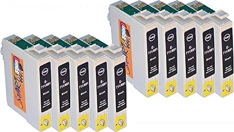 Start - 10 - Cartuchos de impresora compatible con Epson T0711 ...
