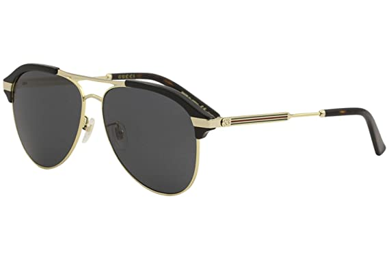 2fea359e4cd Image Unavailable. Image not available for. Color  Gucci Grey Aviator  Sunglasses GG0288SA 001 60