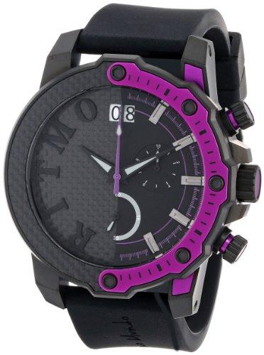 Ritmo Mundo Unisex 1201/6 Purple Quantum Sport Quartz Chronograph Carbon Fiber and Aluminum Accents Watch