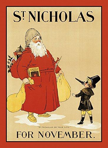 A Masked boy Holds Saint Nicholas at gunpoint Poster Print (24 x 36)