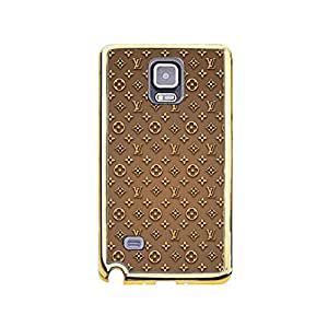 Cool Theme Luxury Louis Diy Vuitton Mobile Case TPU Golden Border Series for Samsung Galaxy Note 4