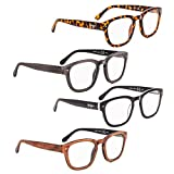 READING GLASSES 4 pack Professor Vintage Style Readers +1.75