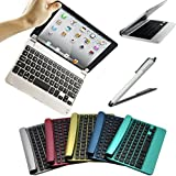 FlyStone Magnetic Slim Aluminum Wireless Bluetooth V3.0 Keyboard Tablet Stand for Apple iPad Mini 1/2/3 , Built-in Stand for Apple iPad Mini 7.9 inch (iPad mini 3/2/1 7.9