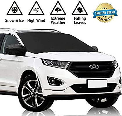 GDuniformX6 Windshield Cover Snow Ice Frost Rain Resistant Waterproof Windproof Dustproof Outdoor Car Covers-2 Color