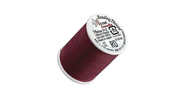 Hilo de nailon Nozue Sonoko para cuentas (hilo de 0,2 mm rojo, con 100 m): Amazon.es: Hogar