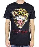 Ed Hardy Men's T Shirt Tiger, Black Mineral, Medium
