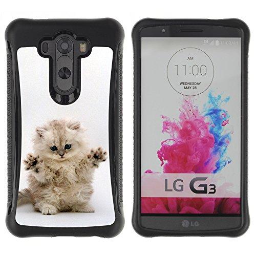 STPlus Gato en una caja Animal Carcasa Funda de Caucho Blando A Prueba de Choques Para LG G3 #24