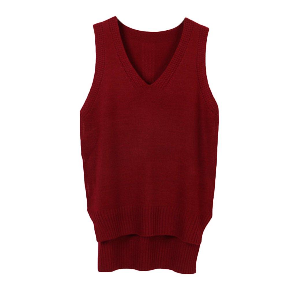 Tidecc Women Winter Sleeveless Sweater Vest V Neck Knitted Cami Sweater Pullovers