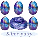 Anditoy Fluffy Slime Colorful Easter Egg Slime Putty Stress Relief Toy Sludge Toys for Kids, Students, DIY, Birthday Party Favors (5 Pack, 11 OZ)