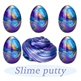(US) Anditoy Fluffy Slime Colorful Easter Egg Slime Putty Stress Relief Toy Sludge Toys for Kids, Students, DIY, Birthday Party Favors (5 Pack, 11 OZ)