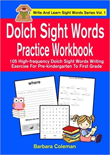 Dolch Sight Words Practice Workbook: 105 high-frequency ...