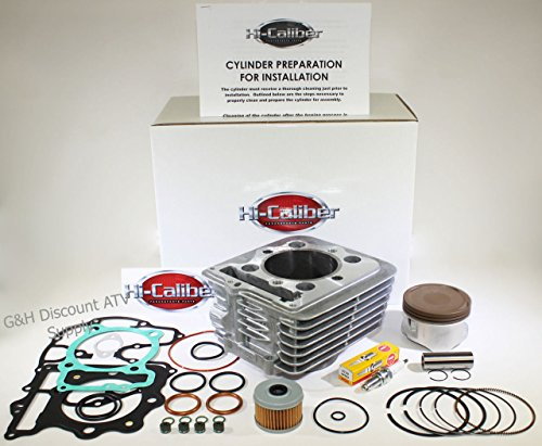 QUALITY 1999-2008 Honda TRX 400EX SporTrax Engine Motor Cylinder Top End Rebuild Kit HONED CYLINDER Piston Gasket Kit Filter Spark Plug
