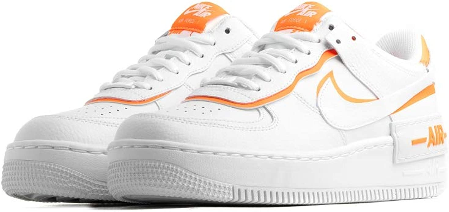 Nike Air Force 1 Shadow Donna Bianco Arancione