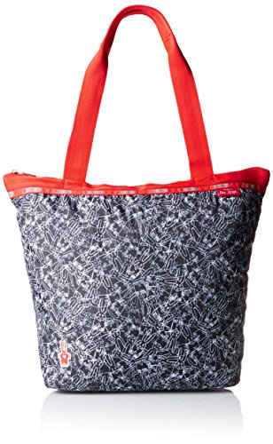 LeSportsac X Peter Jensen Hailey Tote Handbag Tote Bag, Scribble Rabbits, One Size