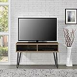 "Industrial Retro Style Flat Panel 42"" Walnut TV Stand"