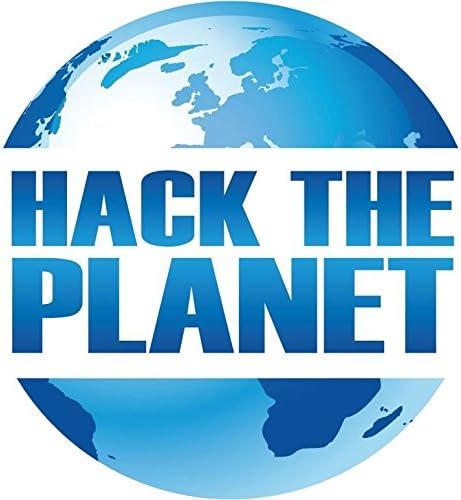 Zirni Hack The Planet Slogan Sticker Decal Design