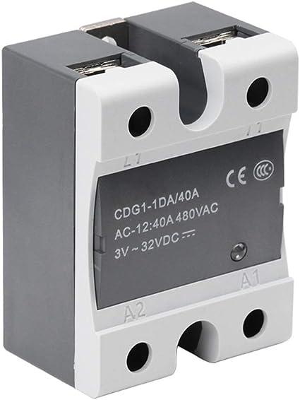 Aibecy CDG1-1DA 40A Relé de estado sólido DC monofásico Control AC ...