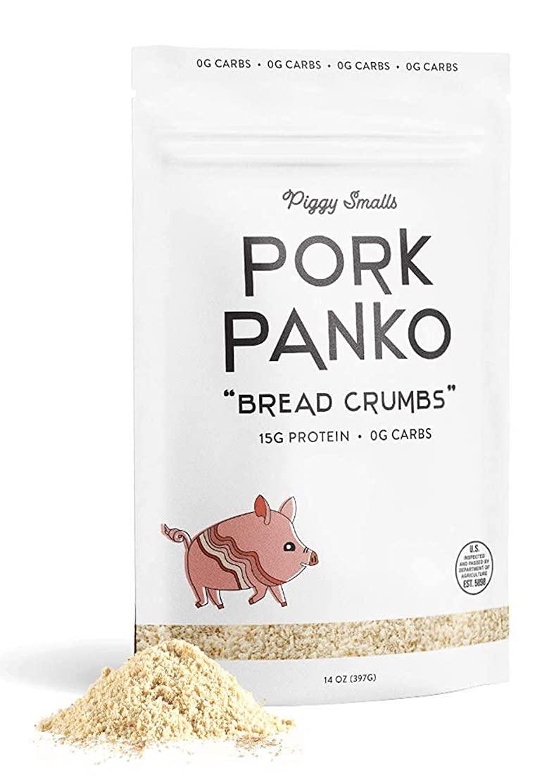 Pork Panko Keto Bread Crumbs, High Protein Healthy Keto Pork Rind Crumbs, Crushed Gluten Free Rinds with Zero Sugar or Carbs, Paleo Friendly Food – No Carb Healthy Breadcrumbs , 14oz