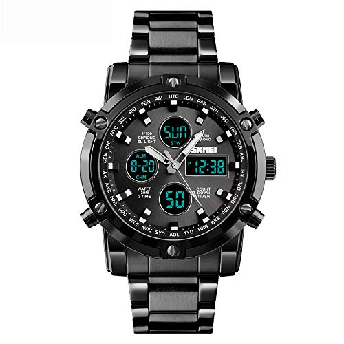 RNGNBKLS Relojes Analógicos Digitales para Hombres ...