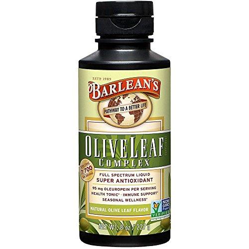 Barlean's Organic Oils Olive Leaf Complex Immune Support Liquid, 8 Ounce