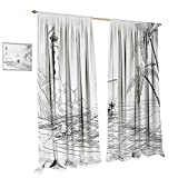 Best Tommy Bahama Beach Boats - Anniutwo Beach Room Darkening Wide Curtains Seascape Sketch Review
