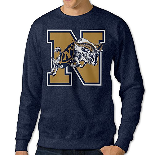 BestGifts Men's United States Naval Academy Crewneck Hooded Sweatshirt Navy Size (Notre Dame Mascot Costume)