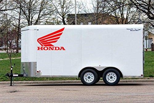 Racing LARGE Honda Wings Red Motocross Dirt bike Supercross Decal Dirt biking Trailer (Large Racing Decal)