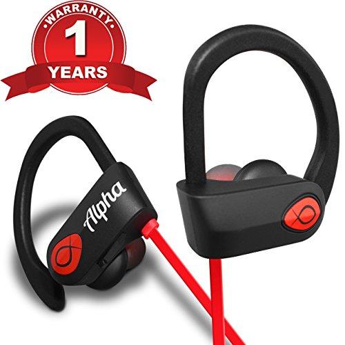 Bluetooth Headphones, Best Wireless Sports Earbuds Workout Earphones w/ Mic – 8 Hour Battery Noise Cancelling Headsets – IPX7 Waterproof