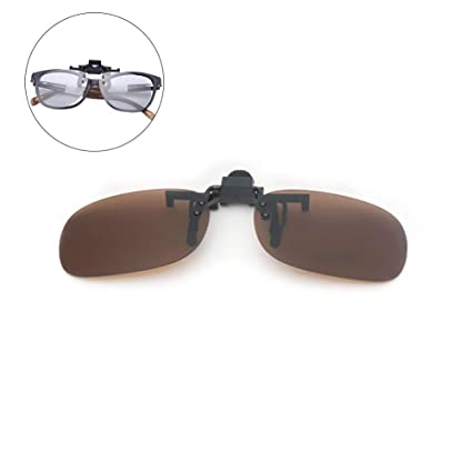 Clip en las gafas de sol tirón encima de gafas de sol sobre ...