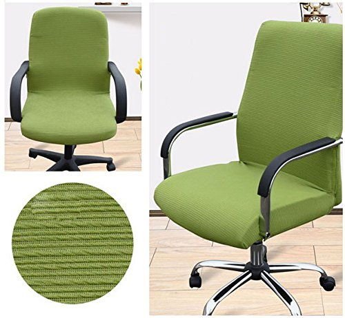 Shihualine(TM) Slipcovers Cloth Chair pads Removable Cover stretch cushion Resilient Fabric Green (Size L)