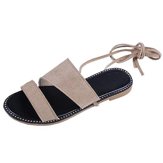 6a9dd4b10159b Amazon.com: Orangeskycn Women Flat Sandals Plus Size Summer Retro ...