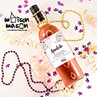 PERSONALIZED Floral Pink Will you be my Bridesmaid, Will you be my Maid of Honor Wine Labels - SET OF 4