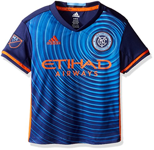 fan products of MLS New York City FC Boy's Secondary Replica Jersey, Navy, Large