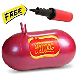 WALIKI Jumping Hot Dog Bouncy Ball with Hand Pump