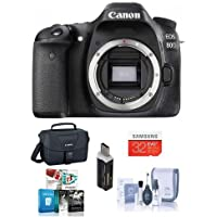 Canon EOS 80D DSLR Camera Body, Black - Bundle With Camera Bag, 32GB Class 10 SDHC Card, Cleaning Kit, Software Package, SD Card Reader