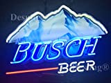 19''x15'' New B usch Beer Neon Sign with HD Vivid Printing Technology Custom Handmade Real Glass Neon Light NT05